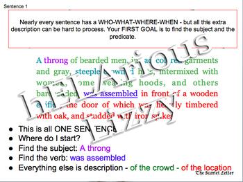 Scarlet Letter Chapter One 22-slide PowerPoint