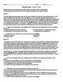 Scarlet Letter Chapters 1-6 PARCC CCSS Aligned Quiz W/ Key