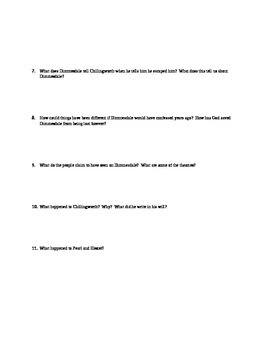 Scarlet Letter Chs 20-24 Quiz