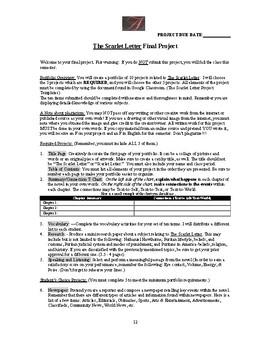 Scarlet Letter: Comprehensive Vocabulary List