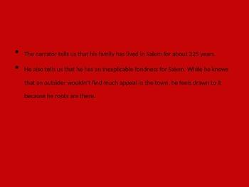 Scarlet Letter- Custom House Summary