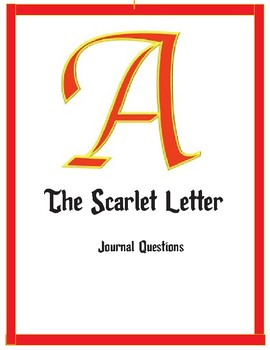 Scarlet Letter Journal Questions
