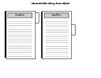 Scarlet Letter Literary Devices Flip-book