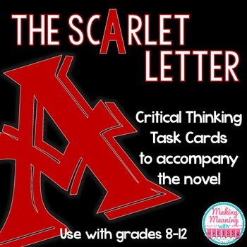 Scarlet Letter Task Cards - High School