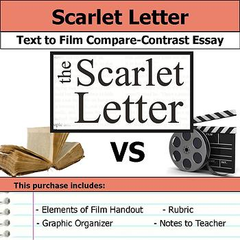 Scarlet Letter - Text to Film Essay Bundle