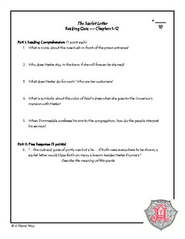 Scarlet Letter Unit Plan/Activities