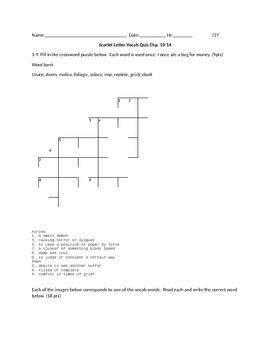 Scarlet Letter Vocab Quiz Chp.10-14