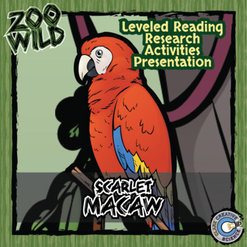 Scarlet Macaw -- 10 Resources -- Coloring Pages, Reading &
