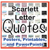 Scarlett Letter Novel Quotes Posters and Powerpoints