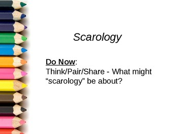 Scarology Descriptive Sentences PPT
