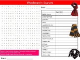 Scarves Wordsearch Sheet Starter Activity Keywords Textiles Fabrics Clothes