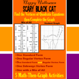 Scary Black Cat - Finding Vertices - 5 Math-Then-Graph Activities