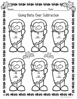 Scary Double Digit Addition & Subtraction
