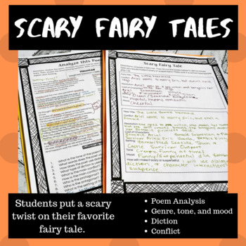Scary Fairy Tales: A Halloween Writing Activity CCSS Aligned