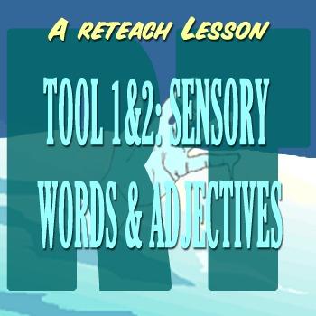 Scary Good Writing: Narrative Essay Reteach Tools 1-2: Sensory Words Adjectives