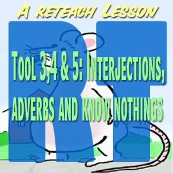 Scary Good Writing: Narrative Essay Reteach Tools 3,4,5 Interjections Adverbs...