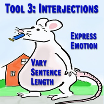 Scary Good Writing: Narrative Essay Tool 3: Interjections (Aligns Common Core}