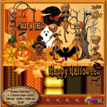 Scary Halloween Themed Graphics