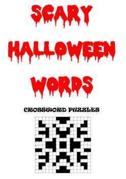 Scary Halloween Words Crossword Puzzles