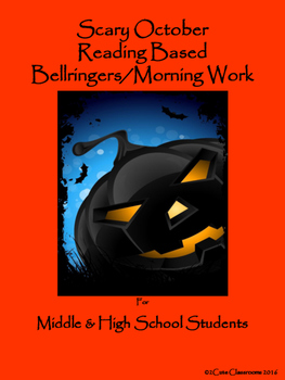 Halloween Bellringers for Middle & High School Students
