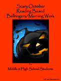 Bellringers for Middle & High School Students: October Themed