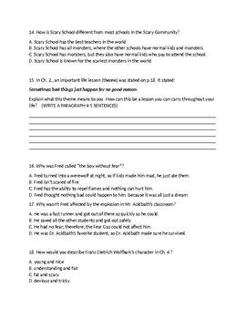 Scary School by Derek the Ghost Ch.1-5 Quiz