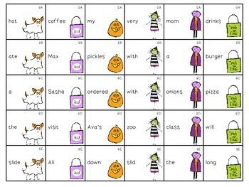 Scary Scrambled Sentences: A Syntax Activity