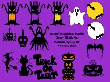 Scary Shadows: Halloween Clip Art