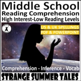 Scary Short Story Comprehension for Middle and High School ELA