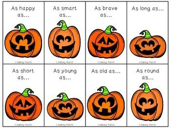 Scary Simile Jack-o-Lanterns FREEBIE