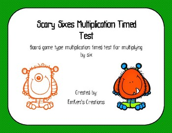 Scary Sixes Multiplation Timed Test
