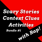 Scary Stories Unit with Context Clues Fiction Passage Acti