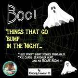 Scary Story Collection for  Middle School: Escape Room, Task Cards, Printables