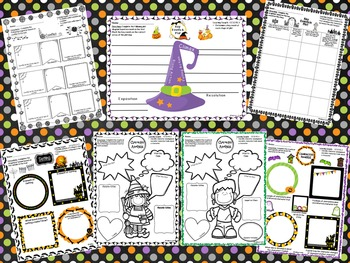 Scary Story Organizers and Rubrics for Any Text-Common Core Standards #1-7