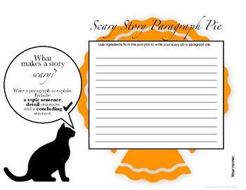 Scary Story Paragraph Pie - Halloween Theme - Analyzing Fiction