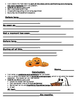 Scary Story Planner