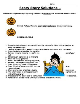 Scary Story Problems and Solutions