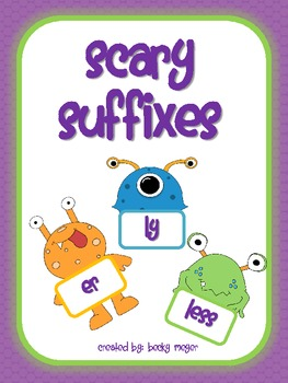 Scary Suffix Word Work Game