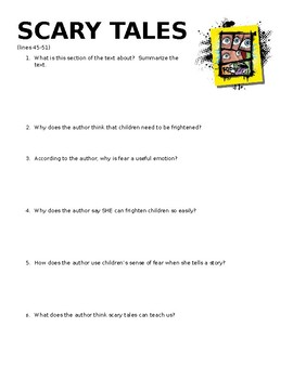 Scary Tales Mini-Quiz