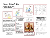 Scary Things Story with 5 different dialogs & 3 reading levels English & Spanish