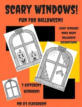 Scary Windows Make Scary Halloween Decorations! Activity