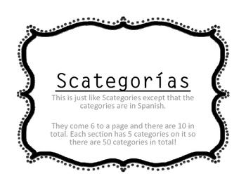 Scategorías
