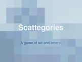 Scattegories, A French Review Game