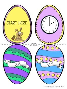 Scatter & Gather: A Telling Time Easter Activity