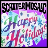 Scatter Mosaic - Happy Holidays (Banner, Sign, Wall Art)