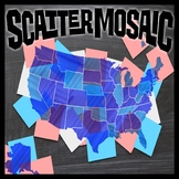 Scatter Mosaic - Map of the United States (Banner, Sign, W