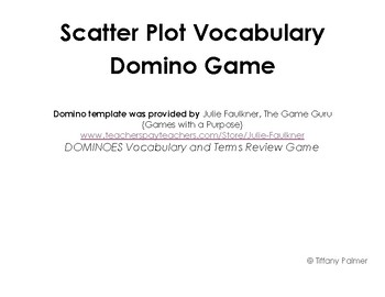 Scatter Plot Domino Game