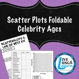 Scatter Plot Foldable - Guess Celebrity Ages