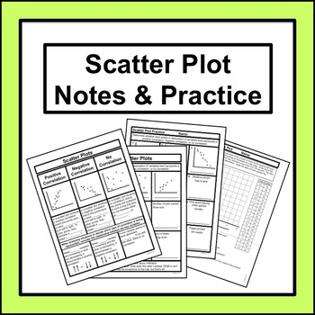 Scatter Plots Notes Worksheets & Teaching Resources | TpT