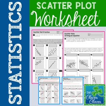 Scatter Plot Worksheets Teaching Resources Teachers Pay Teachers